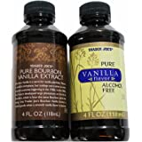 Trader Joe's Pure Vanilla - 2 Bottle Variety Pack (Bourbon Vanilla Extract and Alcohol Free Vanilla)