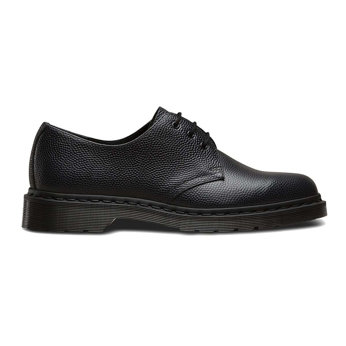 Dr. Martens Men's 1461 3-Eye Shoe Black Pebble 8 UK