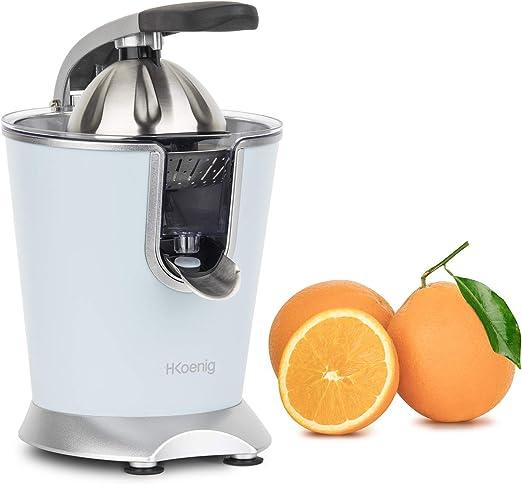 H.Koenig AGR86 Exprimidor Eléctrico para Zumos de Cítricos y Naranjas, Con Brazo Articulado Profesional, 160 W, Libre de BPA, Sistema Antigoteo,