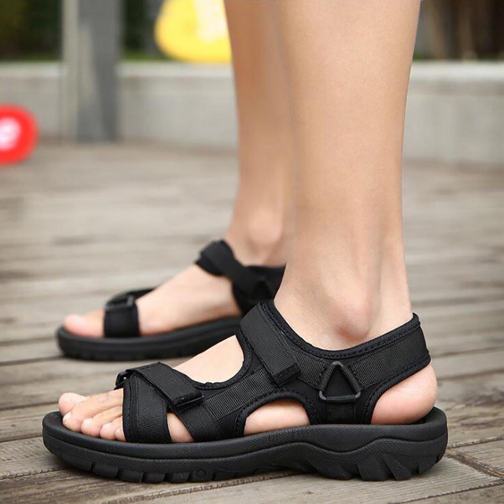 QSYUAN Peas Herrenschuhe Sommer Neue Casual Peas QSYUAN Schuhe Wohnungen & Rutschfeste Tragbare Klett Sandalen & Promenade,Gray,43 - 3241aa