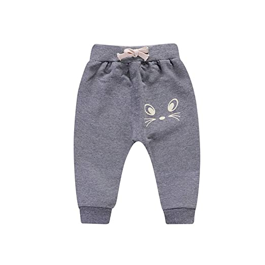 SUCES Kinder Hosen Unisex Süß Jogginghose Jungen Baumwolle Dick Elastische Leggings Mädchen Warm Gefütterte Sporthose
