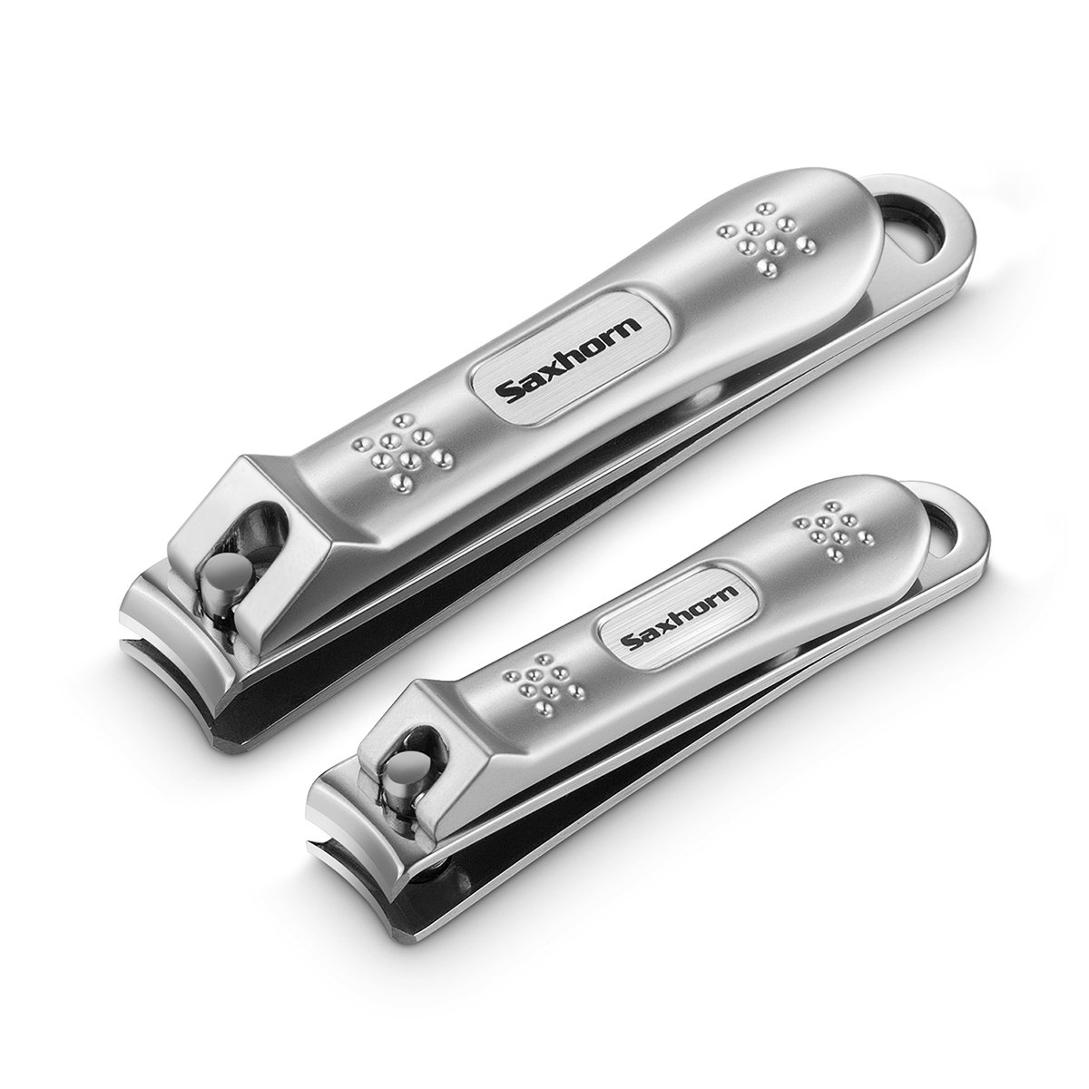 Nail Clippers, Saxhorn Nail Cutter and Trimmer for Fingernail and Toenail – Stainless Steel