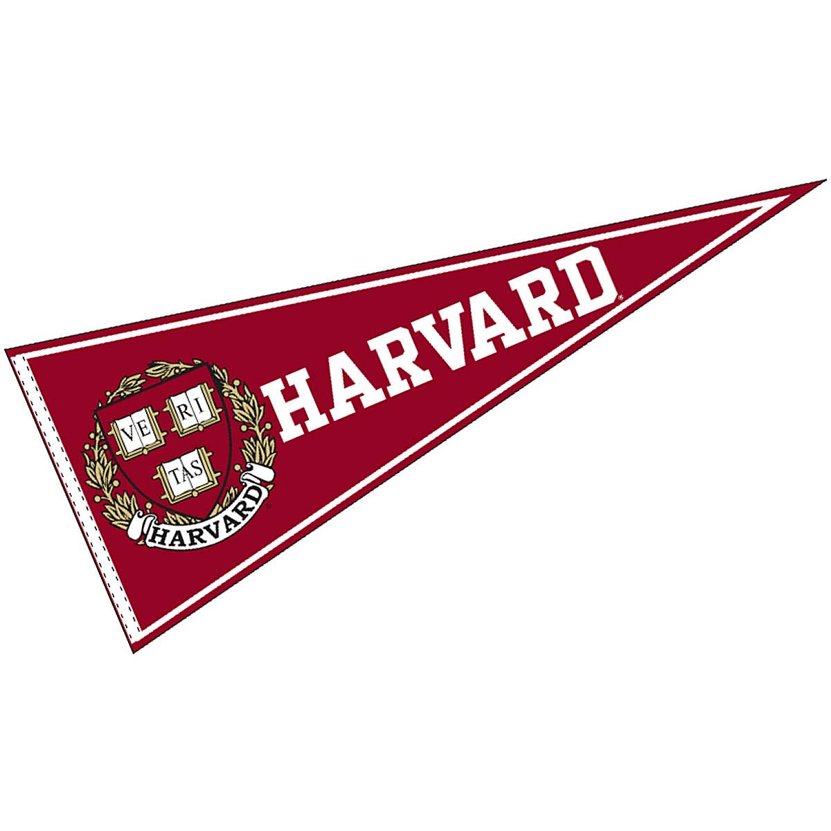 College Flags and Banners Co  Harvard Pennant Full Size Felt