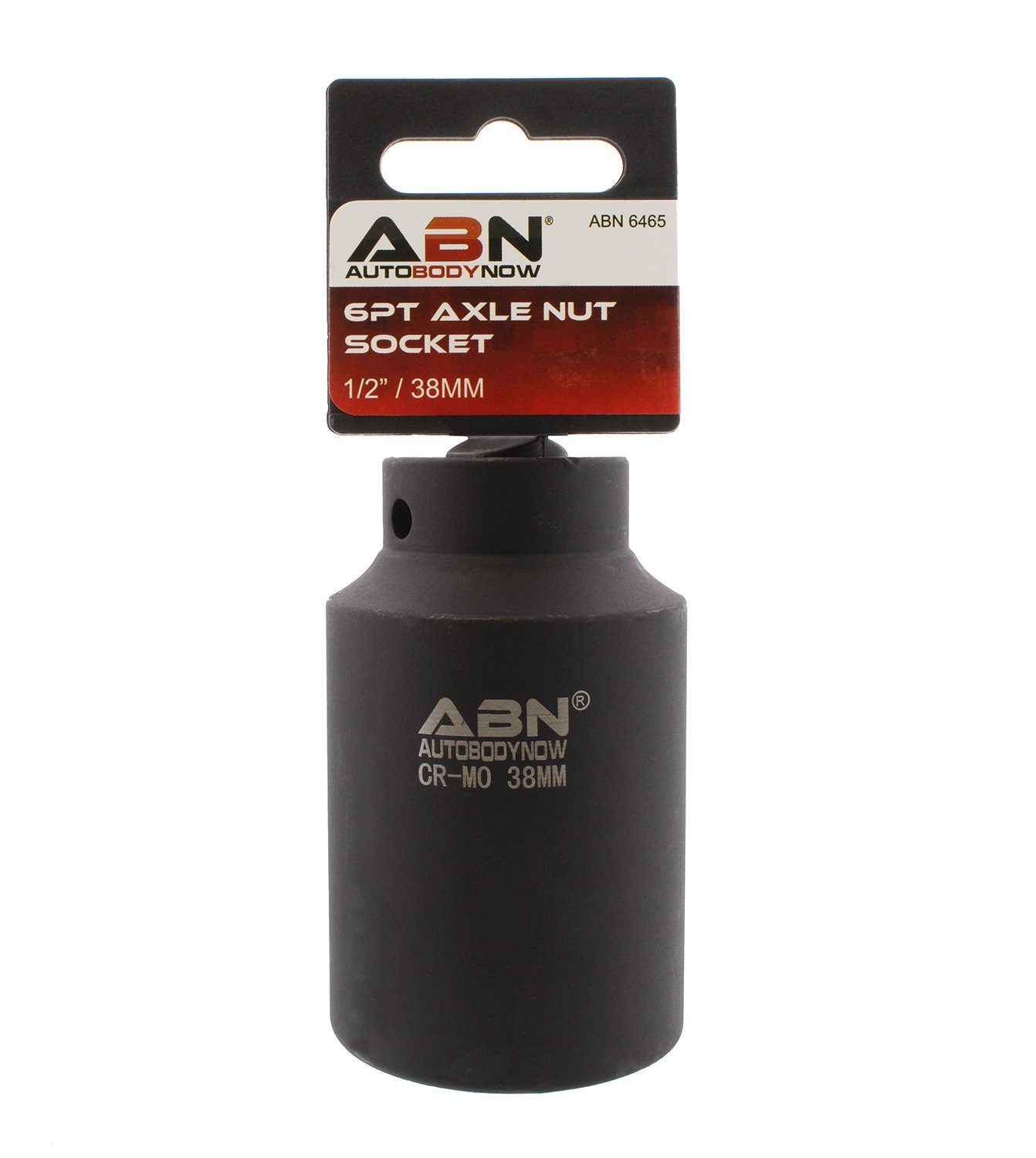 ABN Axle Nut Socket, 38mm, 1/2'' Inch Drive, 6 Point – Universal for All Vehicle 6pt Installation, Removal, Repair