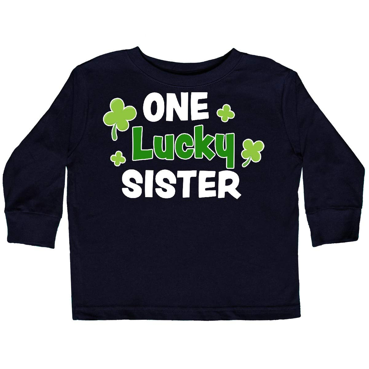 inktastic 1 Lucky Sister with Shamrocks Toddler Long Sleeve T-Shirt