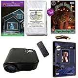Christmas and Halloween Digital Decoration Kit includes 800 x 480 Resolution Projector, Hollusion + Reaper Bros Rear Projection Screens, Santa in Window and Digital Backdrops