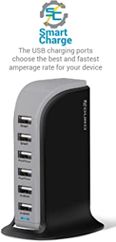 Aduro PowerUP Smart 6-Port USB Rapid Charger