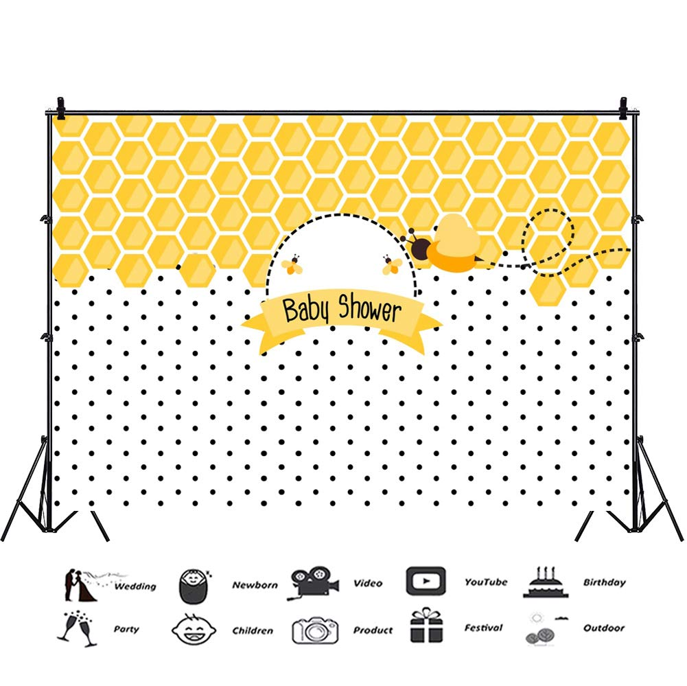6028f5c087d Baocicco 7x5ft Baby Shower Backdrop Beehive Backdrop Honeycomb Little Bee  Banners Regular Hexagon Pattern Background Photography Background Girls  Boys ...