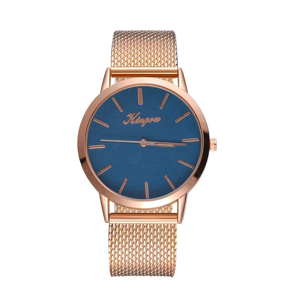 Hot Sale! Gibobby Women Watch, Luxury Silicone Strap Belt Quartz Analog Mesh Band Wristwatches Chronograph Hook Buckle Wrist Watches Gifts for Girls