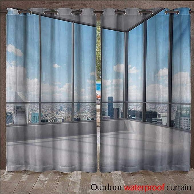 Amazon.com: Moderna cortina con ojales en la parte superior ...