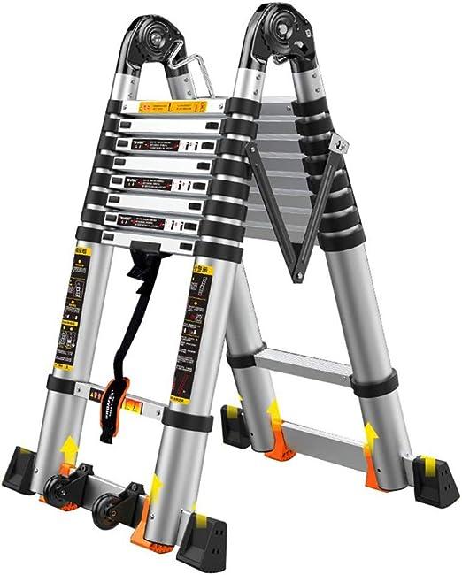 DZWSD Escalera Telescópica escaleras de Aluminio, Escalera multifunción compleja expandible Máx. Capacidad de 150kg / 330lbs por día para el Casino: Amazon.es: Hogar