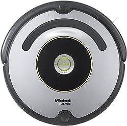 iRobot Roomba 615 Robot Aspirador, Alto Rendimiento de Limpieza, Todo Tipo de Suelos, Atrapa el Pelo de Mascotas, Plata