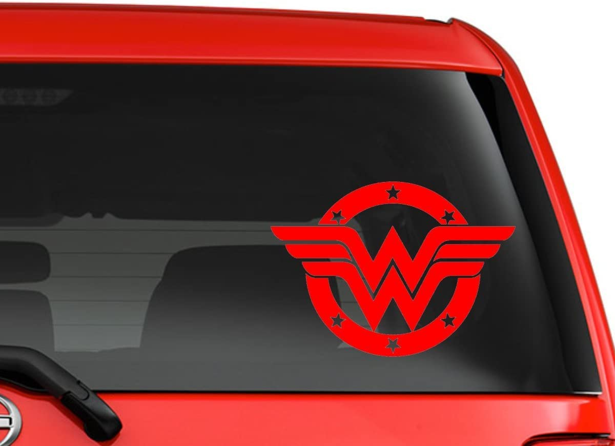 Wonder Woman Symbol Automotive Decal//Bumper Sticker