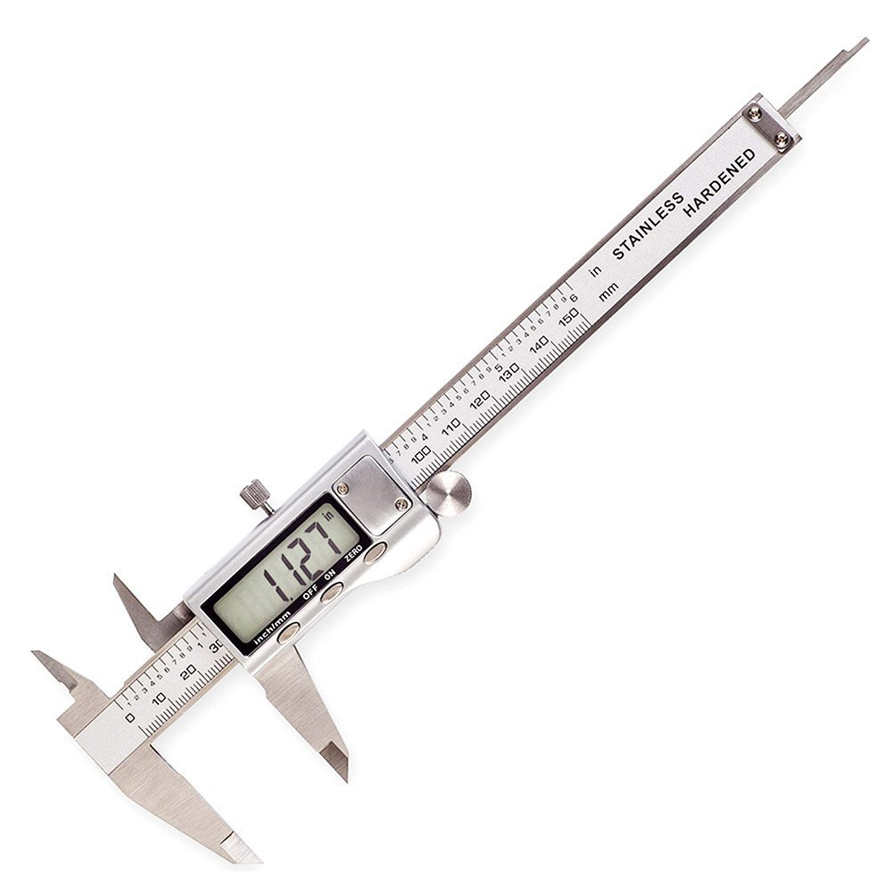Electronic Digital Caliper ,6''/150mm - Inch/Metric Conversion ,Extra Large LCD Screen  ,Stainless Steel Vernier Caliper