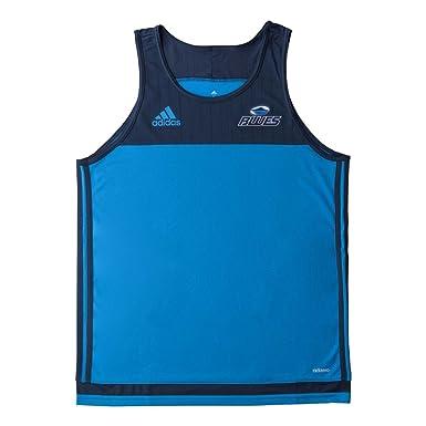 28ef9c86c7b adidas Blues 2017 Super Rugby Players Rugby Training Singlet - Solar Blue/Midnight  Blue -