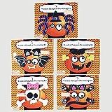 Wood Pumpkin Decorating Kit (Set of 5) Skull Bat Spider Cat Frankenstein
