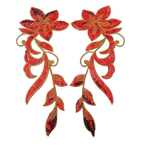 Ornamentos de orquídeas bailando, de Ximkee; paquete de 2 parches para tejer. Pasa ...