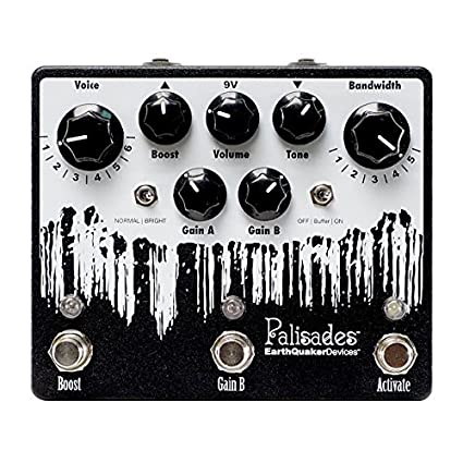 Amazon.com: EarthQuaker Devices Palisades V2 Overdrive Pedal (Black/White): Musical Instruments