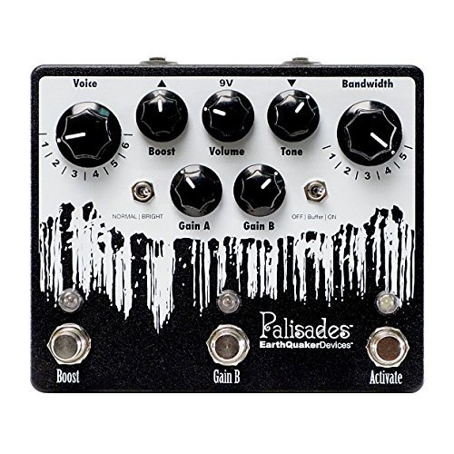EarthQuaker Devices Palisades V2 Overdrive, Limited Edition Inverted Black/White - Exclusive Palisades