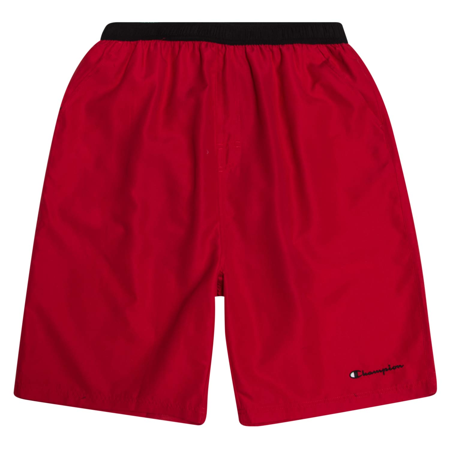 Champion Mens Big and Tall Swim Trunks with Classic Script Logo and Quick Dry Technology Red/Black by Champion