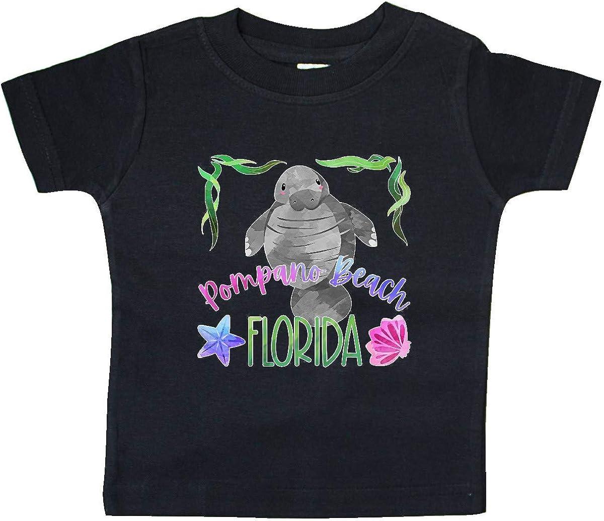 inktastic Pompano Beach Florida Cute Swimming Manatee Baby T-Shirt