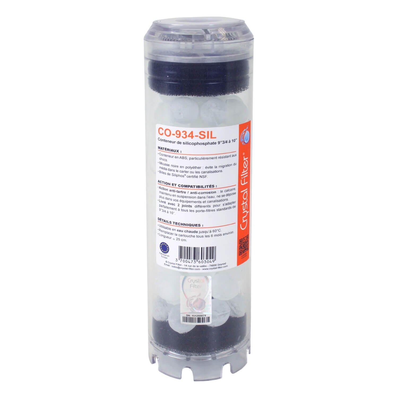 Conteneur de silicophosphates 9'3/4 à 10' - Anti-tartre - Crystal Filter® CO-934-SIL