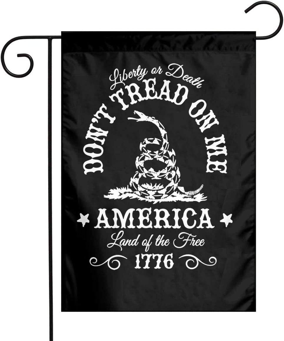 JIASHWULA Don't Tread On Me Snake Flag Outdoor Decorative Flag Home Decor 12x18 Inch Double Sided Black
