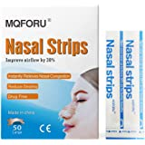 MQFORU 50 ct Better Breathe Nasal Strips to Reduce Snoring, Drug-Free, Works Instantly to Improve Sleep, Relieve Nasal Congestion Due to Colds & Allergies, Large (66mm*19mm)