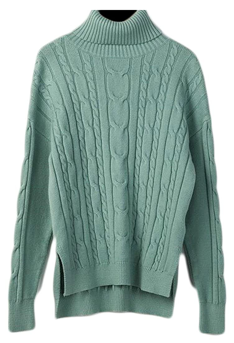 1 uninukoowomen clothes Unko Women' Classic Long Sleeve Textured Twist Knit Sweater