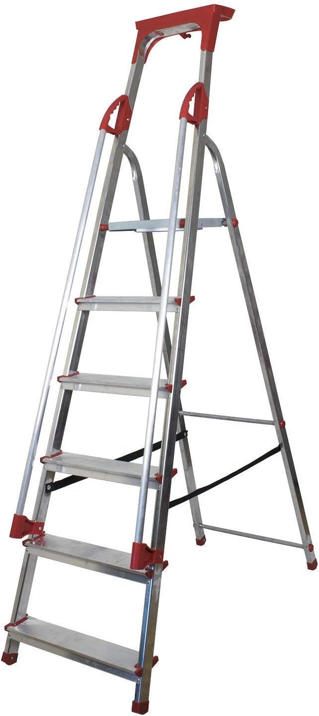 Plataforma de Seguridad para escaleras de Aluminio con pasamanos y pasamanos Bbey Aluminiu