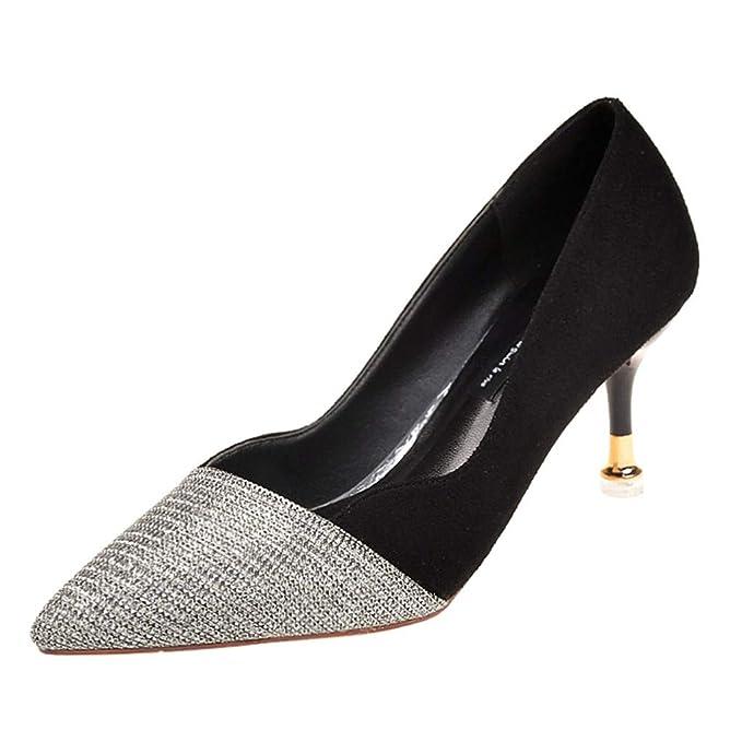 Darringls sandalias Dedo Para Pie Mujer Del Puntiagudo De zapatos N0OkXwP8n