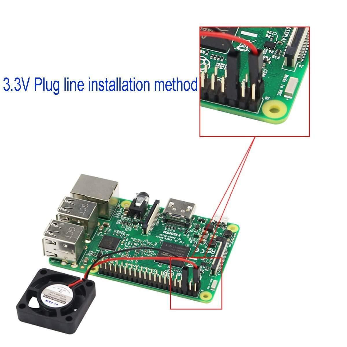 Pi 3 // Cero//Cero W u Otro Proyecto de Robot MakerHawk 2 Piezas Raspberry Pi DC Ventilador de refrigeraci/ón sin escobillas Que Separa la Interfaz de uno a Dos 3.3 V 5 V para Raspberry Pi 2 3B