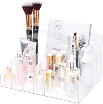 Rackaphile Clear Acrylic Makeup Cosmetic Organizer Storage