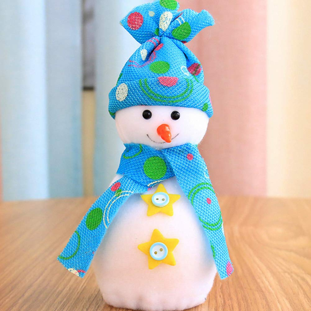 YaptheS Christmas Eve Cute Wrapping Snowman Shaped Candy Cookie Apple Bags Christmas Decoration Supplies-Blue Christmas Gift by YaptheS (Image #3)