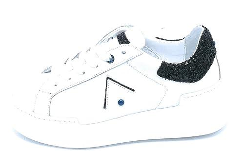 Ckld Nero Sq11 Glitter Parrish Nappa Bianca Lacci Ed Sneaker Bordo DIYeWE9H2b