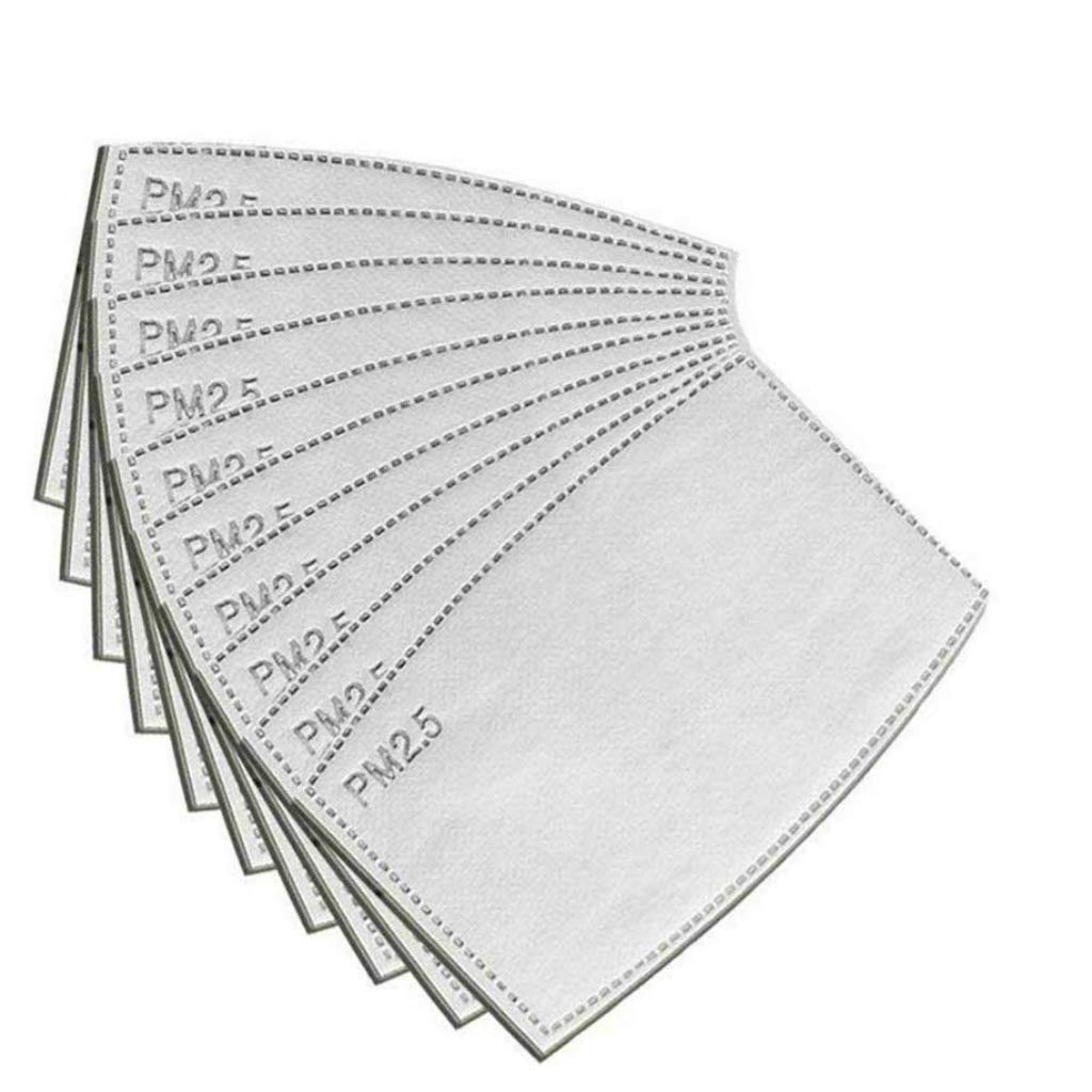20 piezas de filtro de máscara de carbón activo PM2.5, 5 capas junta de máscara de reemplazo de máscara de boca de polvo anti bruma