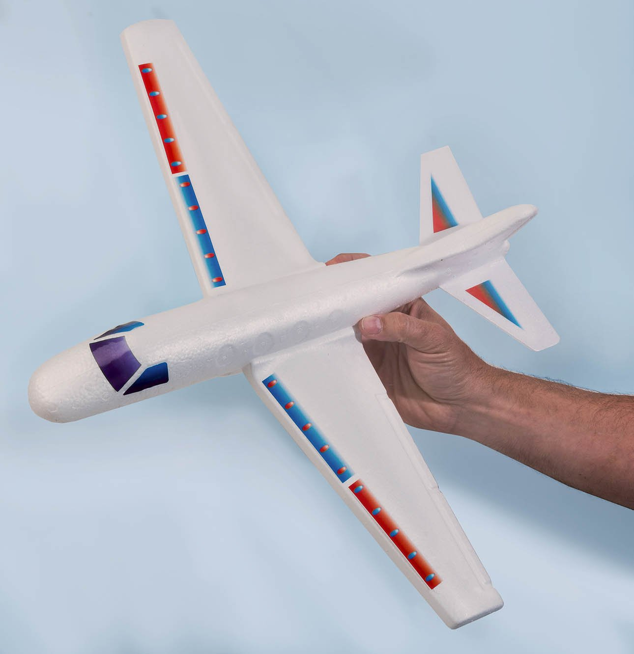 2GoodShop Giant Airplane Glider Kids Fying Toy Build It, Throw It and Watch It Glide Hours of Outdoor Fun Pack of 6 | Item #1030 by 2GoodShop (Image #6)