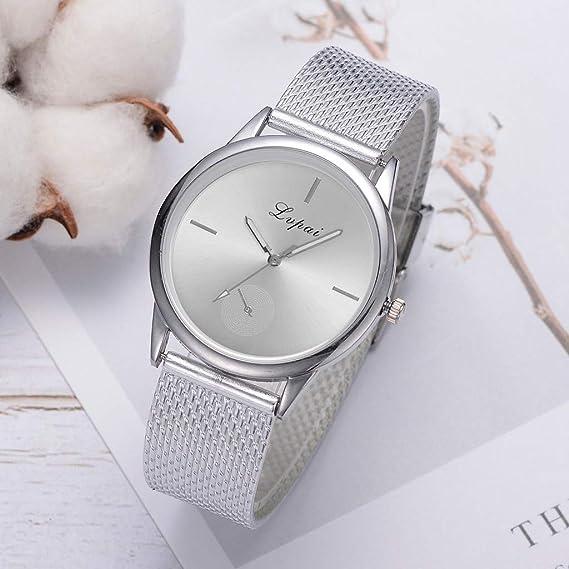 Luckycat Reloj analógico Mujer Resistente al Agua Reloj de Pulsera para niñas con Correas de Acero Inoxidable Relojes Analógicos Moda Casual para ...