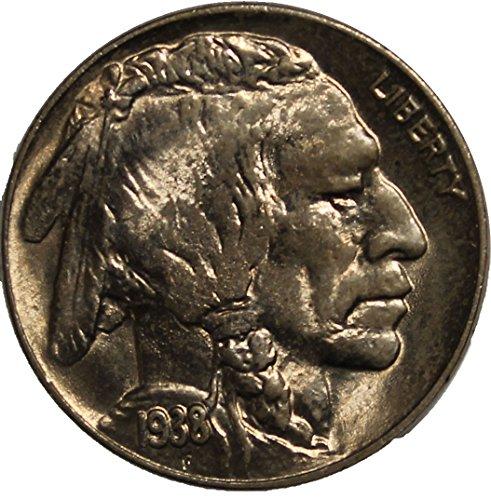 1938 D Buffalo Nickel 5c Brilliant Uncirculated