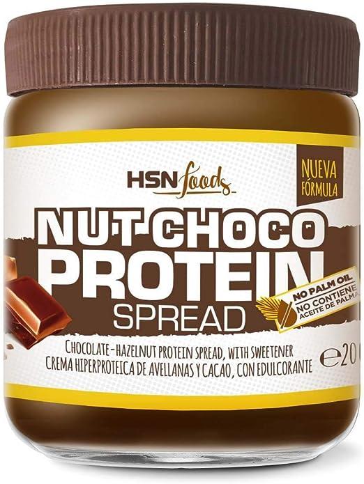 Crema Hiperproteica de Cacao y Avellanas de HSN | NutChoco con Whey Protein | Ideal para Untar en Tortitas ¡Deliciosa! | Baja en azúcar, Sin Aceite de ...