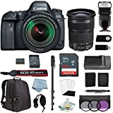 CANON EOS 6D MARK II DSLR Camera Kit with Canon EF 24-105mm F/3.5-5.6 IS STM Lens + DSLR Professional Accessory Bundle - Including EVERYTHING You Need To Go Pro