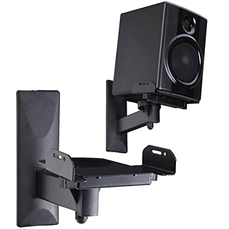 VideoSecu Side Clamping Bookshelf Speaker Wall Mount