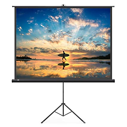 amazon com taotronics projector screen with stand indoor movie