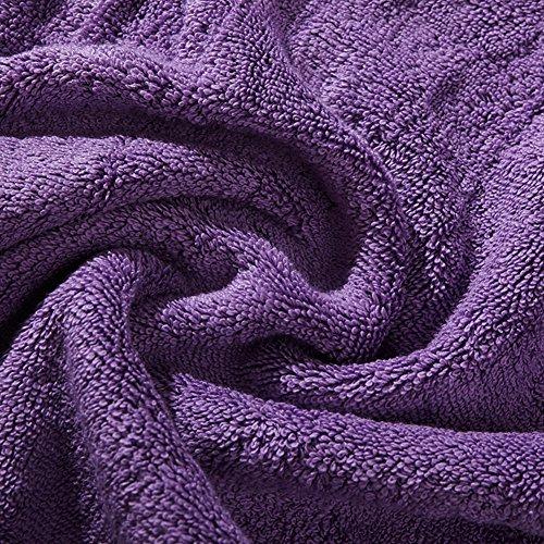 plain sponge cotton bath towel/Sponge cotton increased thick soft towels of absorbent adult child-E by tytu (Image #1)