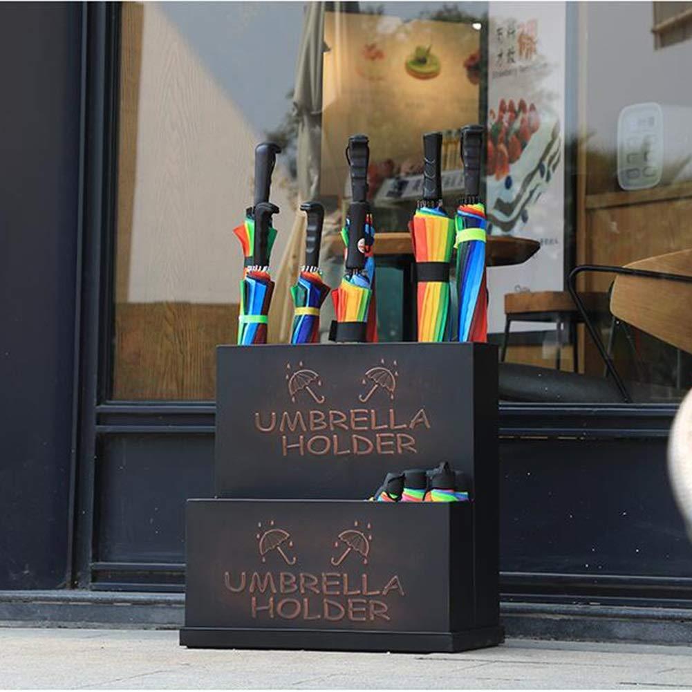 HH- Porta ombrelli Portaombrelli Portaombrelli in Metallo con Vassoio Raccogli Gocce Estraibile Colore : Bronzo Portaombrelli Ideale per Canne//Bastoncini da Passeggio Stile Vintage