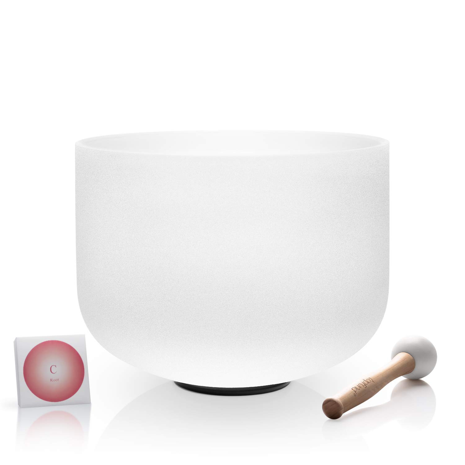 TOPFUND Quartz Crystal Singing Bowl C Note Root Chakra 12 inch O-ring and Rubber Mallet Included