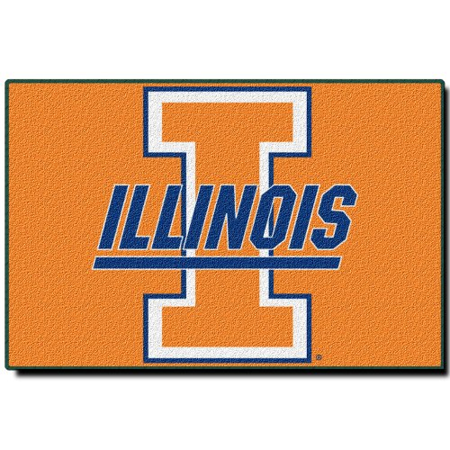 Officially Licensed NCAA Illinois Illini Tufted Rug, 20