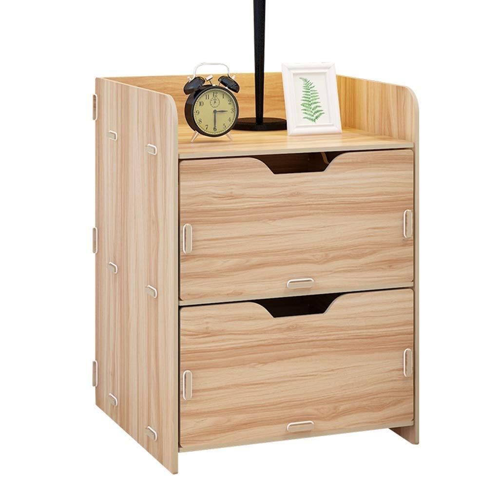 SCDCTG ベッドサイドテーブルベッドサイドテーブル食器棚ベッドサイドテーブル積み重ね可能サイドテーブルコーヒーテーブルエンドウッドテーブル収納テーブル棚ペデスタル経済タイプGAOFENG、ウッド B07T672DFD