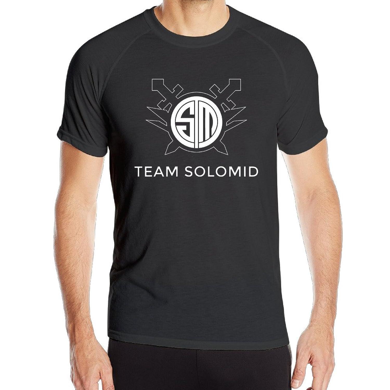 Duola Men's Team Solomids Short Sleeve Sports Latest T-shirt Black