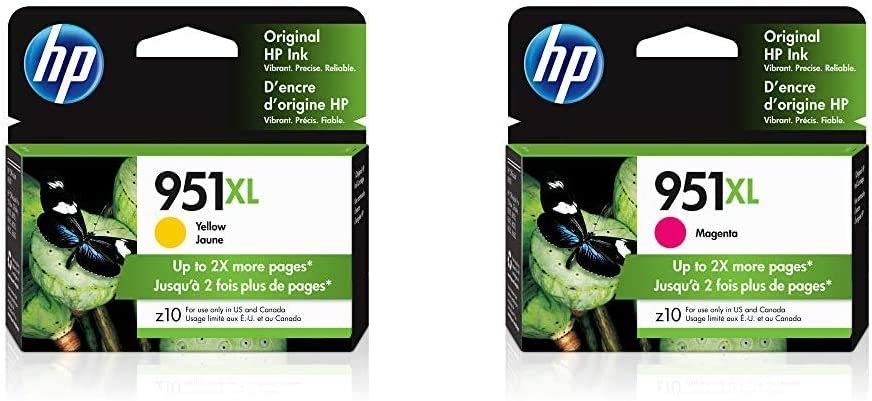 HP 951XL | Ink Cartridge | Yellow | CN048AN & 951XL | Ink Cartridge | Magenta | CN047AN